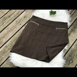 Athleta Sz L Soft Athletic Skirt Olive Green NWOT